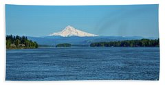 Mt. Hood Above The Columbia River Hand Towel