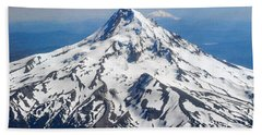Mt. Hood From 10,000 Feet Bath Towel