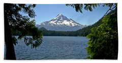 Mt Hood Over Lost Lake Bath Towel