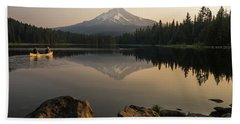 Mt Hood Sunrise  Bath Towel