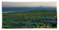 Mt. Hood With Lupines And Balsam Root Hand Towel