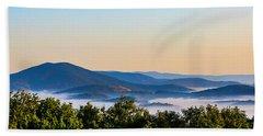 Mt. Jefferson Cloud Lake Bath Towel by Dale R Carlson