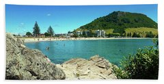 Mt Maunganui Beach 13 - Tauranga New Zealand Bath Towel by Selena Boron