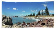 Mt Maunganui Beach 3 - Tauranga New Zealand Bath Towel by Selena Boron