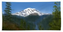 Mt Rainier Bath Towel
