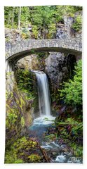 Mt Rainier National Park, Christine Falls Bath Towel