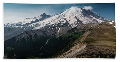 Mt. Rainier Panoramic Bath Towel