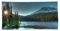 Mt. Rainier Sunrise Bath Towel