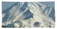 Bath Towel featuring the photograph Mt Shasta In Early Morning Light by Marc Crumpler