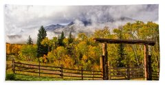 Mt Sopris Under The Clouds Bath Towel by Ronda Kimbrow