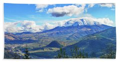 M.t St. Helens And The Toutle River Hand Towel by Ansel Price