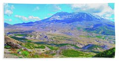 Mt. St. Helens Wildflowers Bath Towel by Ansel Price