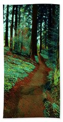 Mt. Tabor Afternoons  Hand Towel