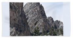 Bath Towel featuring the photograph The Caves Of Mt. Charleston by Karen J Shine