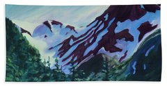 Hand Towel featuring the painting Mt.roberts Juneau Alaska by Yulia Kazansky