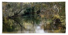 Bath Towel featuring the photograph Muckalee Creek by Jerry Battle
