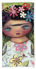 Muertos Fest Hand Towel by Abril Andrade Griffith