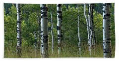 Hand Towel featuring the photograph Mug - Aspen Trees by Inge Riis McDonald