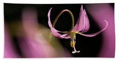 Hand Towel featuring the photograph Mug - Pink Fawn Lily by Inge Riis McDonald