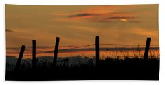 Hand Towel featuring the photograph Mug - Prairie Sunset by Inge Riis McDonald