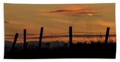 Bath Towel featuring the photograph Mug - Prairie Sunset by Inge Riis McDonald