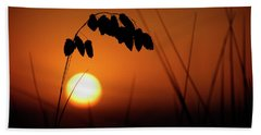 Hand Towel featuring the photograph Mug - Sunset by Inge Riis McDonald