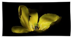 Hand Towel featuring the photograph Mug - Yellow Tulip by Inge Riis McDonald