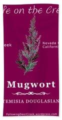Mugwort - White Text Hand Towel