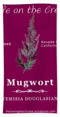 Mugwort - White Text Bath Towel