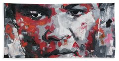 Bath Towel featuring the painting Muhammad Ali II by Richard Day