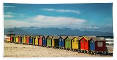 Muizenberg Beach Huts 1 Bath Towel