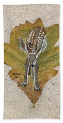 Mule Dear Fawn Hand Towel by Ralph Root