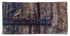 Mule Train On Black Bridge, Grand Canyon Hand Towel
