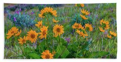 Mule's Ear And Lupine Hand Towel