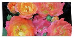 Hand Towel featuring the photograph Multi-color Roses by Jerry Battle