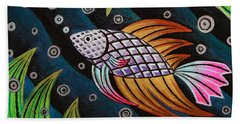 Multi-colored Fighting Fish Hand Towel