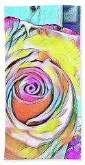 Multi-colored Rose Hand Towel