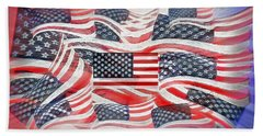 Multi - Flag Abstract  Hand Towel