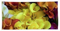 Multicolored Calla Lillies Hand Towel