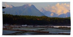 Multileval Photography In One Land Water Trees Mountain Clouds Skyview Olympic National Park America Bath Towel