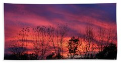 Multiple Colors Sunset Hand Towel by Yumi Johnson