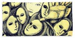Multiple Personalities Bath Towel by Paulo Zerbato