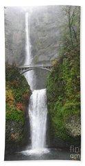 Multnomah Falls -autumn Mist Bath Towel