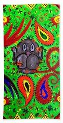 Mun Moji-hookah Monkey Hand Towel