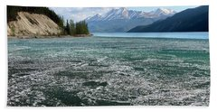 Muncho Lake And The Alaskan Highway Bath Towel