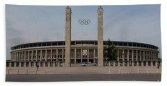 Berlin Olympic Stadium Hand Towel by Nichola Denny