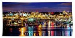 Murray Morgan Bridge View During Blue Hour In Hdr Bath Towel