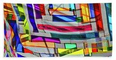Museum Atrium Art Abstract Hand Towel