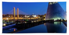 Museum Of Glass At Blue Hour Hand Towel