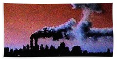 Mushroom Cloud From Flight 175 Bath Towel by James Kosior